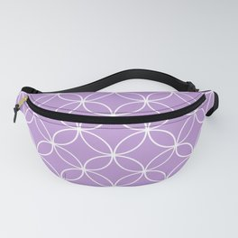 Crossing Circles - Periwinkle Purple Fanny Pack