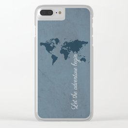 Let the adventure begin Clear iPhone Case