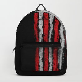 Red & white Grunge American flag Backpack