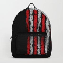 Red & white Grunge American flag Backpack