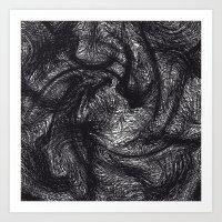 furry Art Prints featuring furry swirl by Matthias Hennig