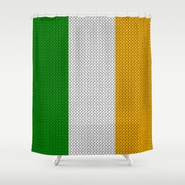 Flag of Ireland - knitted Shower Curtain