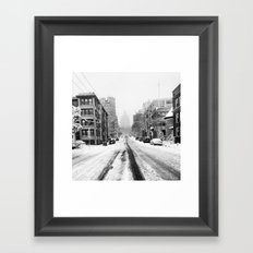 Snowy Street Framed Art Print