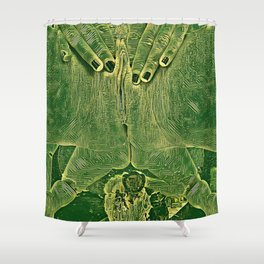 9978s-KD Self Love Explicit Naked Motherboard Fine Art Nude Creative Tech Shower Curtain
