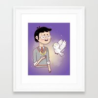 hedwig Framed Art Prints featuring Magical friends by HypersVE