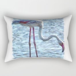 Balance of Nature Flamingo Watercolor Rectangular Pillow