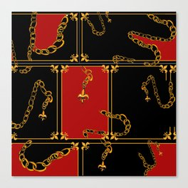 Unchained: Gold, Black + Red Canvas Print