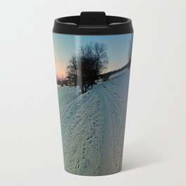 Hiking through winter wonderland | landscape photography Travel Mug