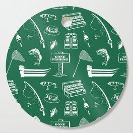 Gone Fishing // Jewel Green Cutting Board