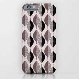 Mauve & black leaves iPhone Case