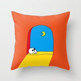 Castle Sky Throw Pillow