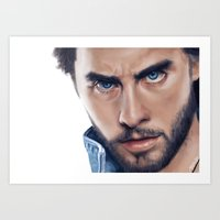 jared leto Art Prints featuring Jared Leto by mari_art89