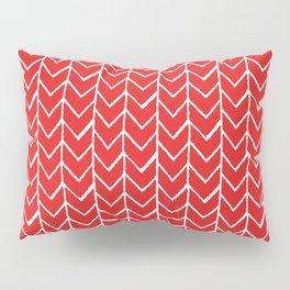 Herringbone Red Pillow Sham