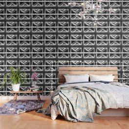 Black and white England Grunge flag Wallpaper