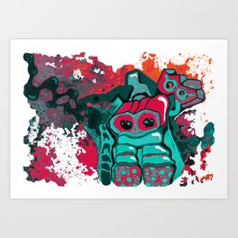 This is my robot Art Print