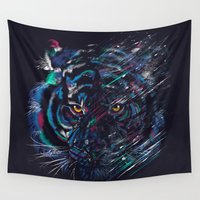 fierce Wall Tapestries featuring FIERCE by dan elijah g. fajardo