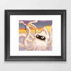 Mario Vs Blooper Framed Art Print