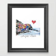 I love Cinque terre Framed Art Print
