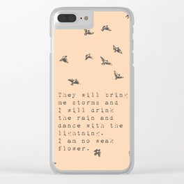 I am no weak flower - Van Vuren Collection Clear iPhone Case
