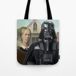 Darth Vader in American Gothic Tote Bag