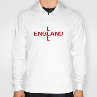 england Hoodies featuring ENGLAND by eyesblau