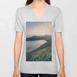 Keem Bay Sunset - nature photography Unisex V-Neck