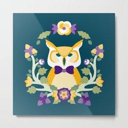 Baltimore Woods Owl Metal Print