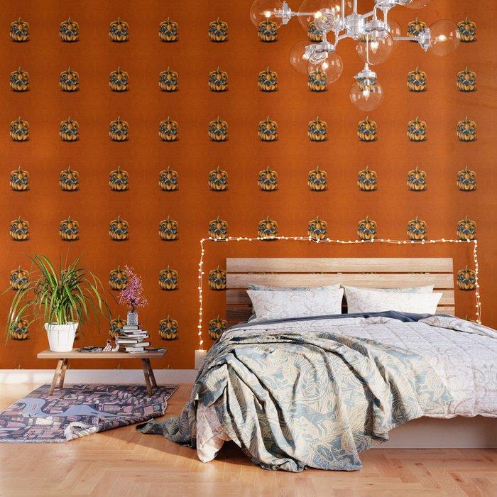 Halloween Pumpkin Pug Wallpaper