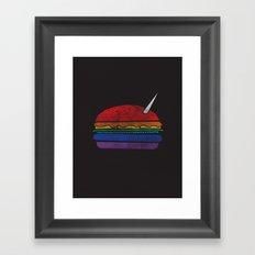 The Last Unicorn Burger Framed Art Print