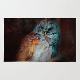 Abstract Barred Owl Rug