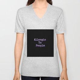 Allergic To People Unisex V-Neck