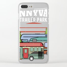 Funny print Trailer Park Sunnyvale Lovers product Clear iPhone Case