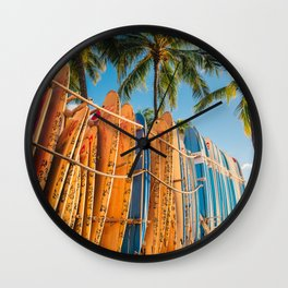 Rent a surfboard? Or just put this photo on your wall Wall Clock