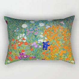 Gustav Klimt - Cottage Garden Rectangular Pillow