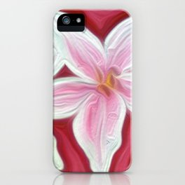 Pink Lillies iPhone Case