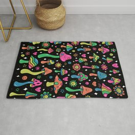 Rainbow Mushrooms Rug