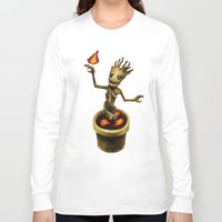 groot Long Sleeve T-shirts featuring Groot by Anna Shell
