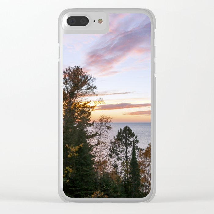 Superior Fall Colors at Sunset Clear iPhone Case
