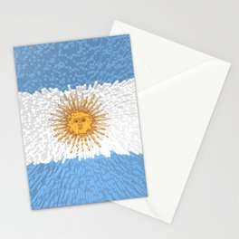Extruded Flag of Argentina Stationery Cards