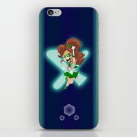sailor jupiter iPhone & iPod Skins featuring Sailor Jupiter by The Art of Eileen Marie