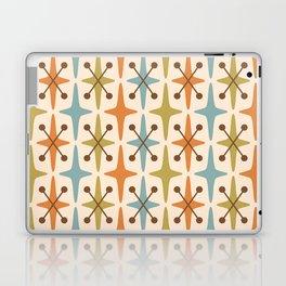 Mid Century Modern Abstract Star Pattern 441 Orange Brown Blue Olive Green Laptop & iPad Skin