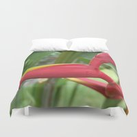 """indonesia Duvet Covers featuring Flower """"Heliconia"""" (Bali, Indonesia) by Christian Haberäcker - acryl abstract"""