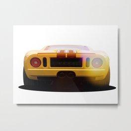 illustration of a classic GT 40 Metal Print