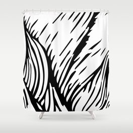 woodcut Shower Curtain