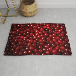 Pattern Of Red Cranberries Rug