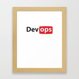 Devops Framed Art Print