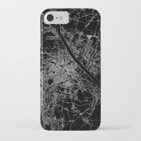 vienna iPhone & iPod Cases featuring Vienna map by Line Line Lines