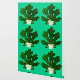 Fig Leaf Diamond Christmas Tree Wallpaper