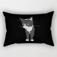 Black Kitty Rectangular Pillow