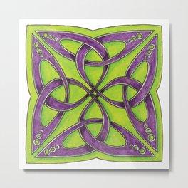 Celtic Knot - Trefoil Square Metal Print
